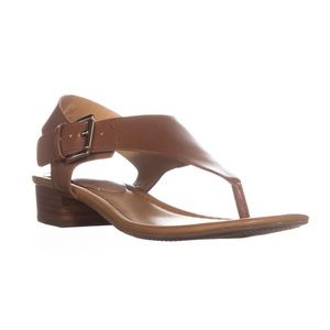 New Tommy Hilfiger tan leather sandals size 9.5